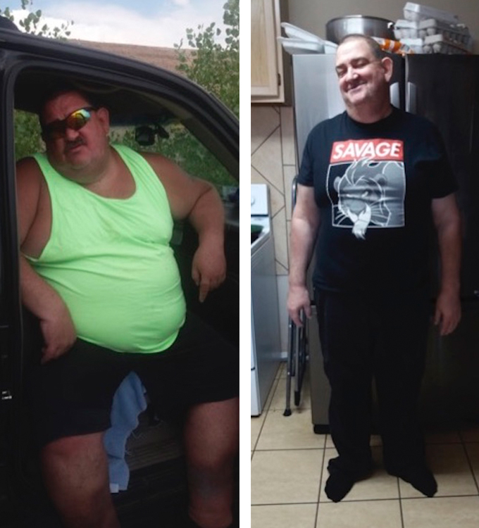 Carl's weight loss transformation