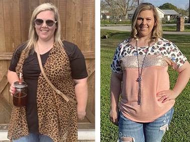 Tiffany's weight loss transformation