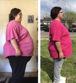 Rita's weight loss transformation