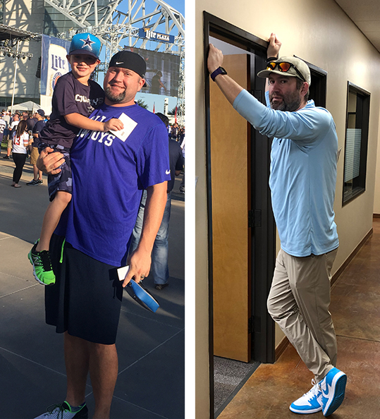 Brady's weight loss transformation