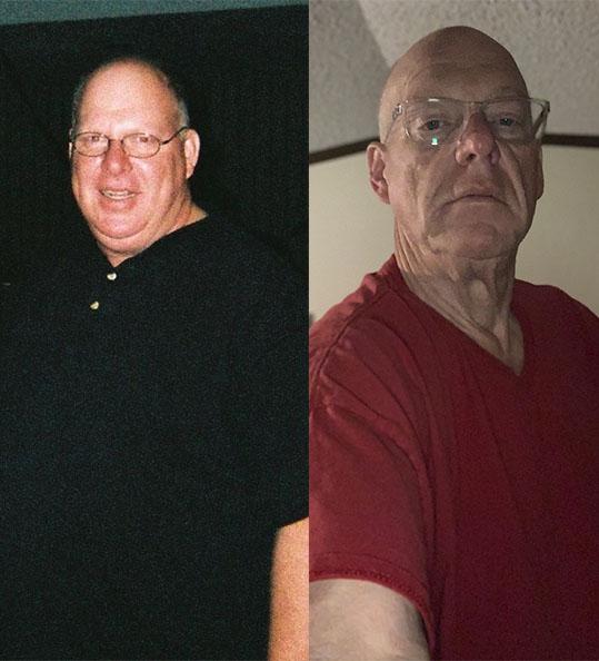 Jeffrey's weight loss transformation